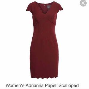 Burgundy Adrianna Papell Cocktail Dress